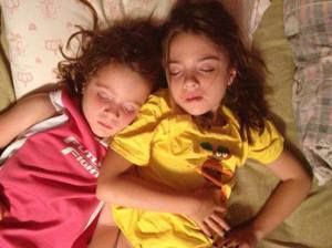 Alyssa and Skylar sleeping