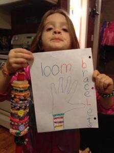"Alyssa launched ""Little Lissy Loom"" for a period last fall to make and sell loom bracelets then give the money to charities important to her. It has sometimes bothered me why a kid so little would feel compelled to be so giving rather than just a little kid but I've come to accept that's who Alyssa is."