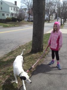 Skylar walking Rubie--Pieces of Each Other blog
