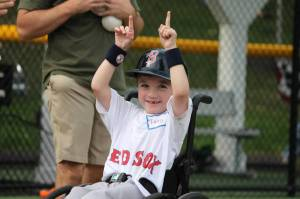 Joey, a/k/a Mr. Baseball, doing his Big Papi tribute